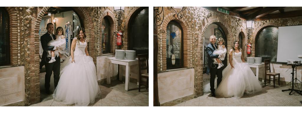 ingresso degli sposi in sala di Villa Desirèe a Roma