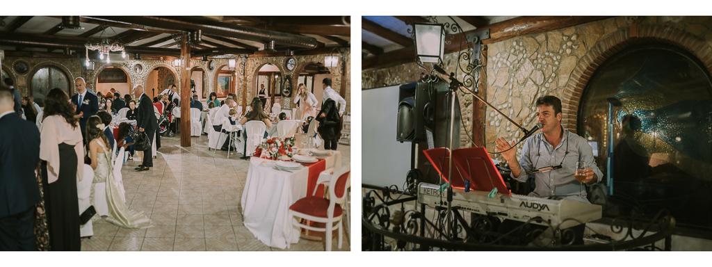 gli invitati del matrimonio di accomodano in sala in Villa Desirèe a Roma