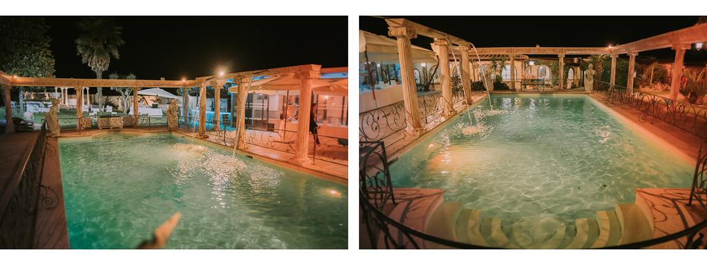piscina serale di Matrimonio in Villa Desirèe a Roma