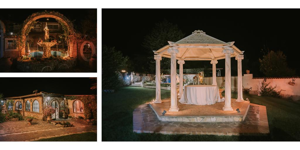 esterni serali di Matrimonio in Villa Desirèe a Roma