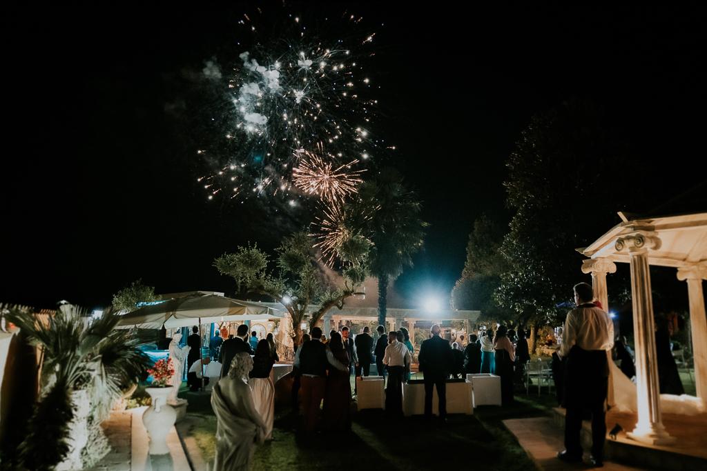 fuochi artificiali di Matrimonio in Villa Desirèe a Roma