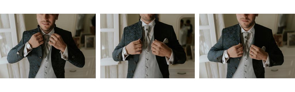 lo sposo sistema la giacca per il matrimonio a roma