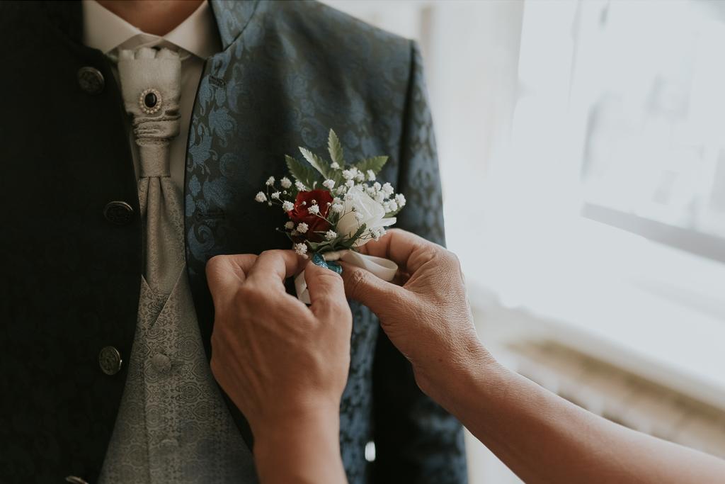 bottoniera dello sposo
