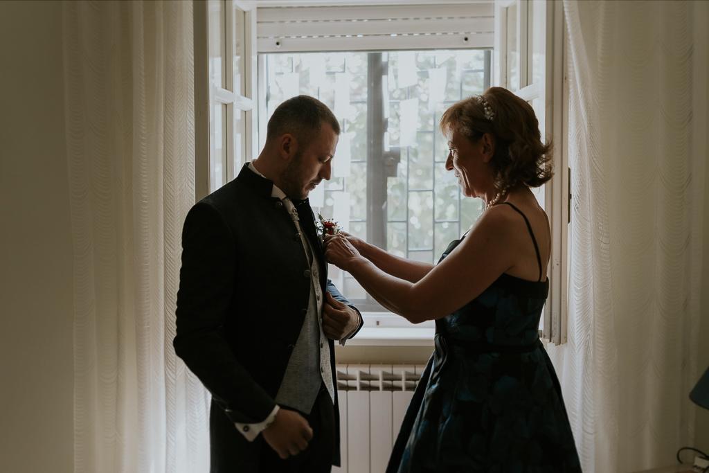 la mamma e lo sposo