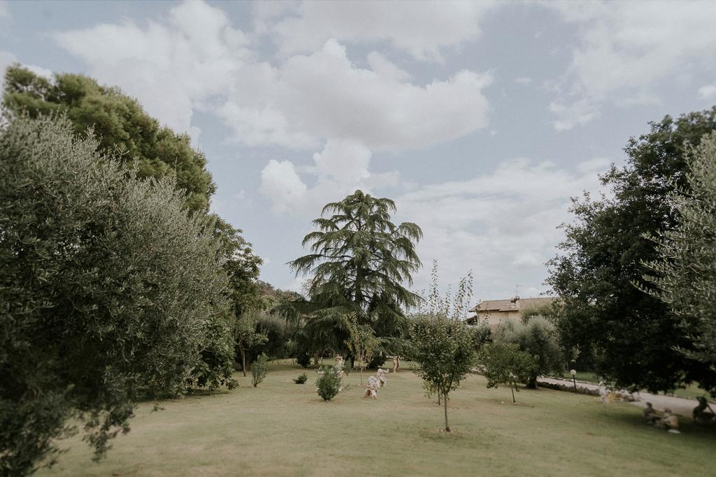 il giardino della casa della sposa
