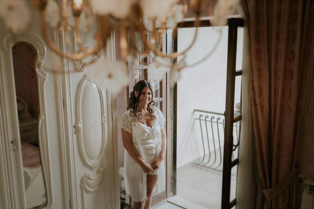 la sposa nella sua stanza
