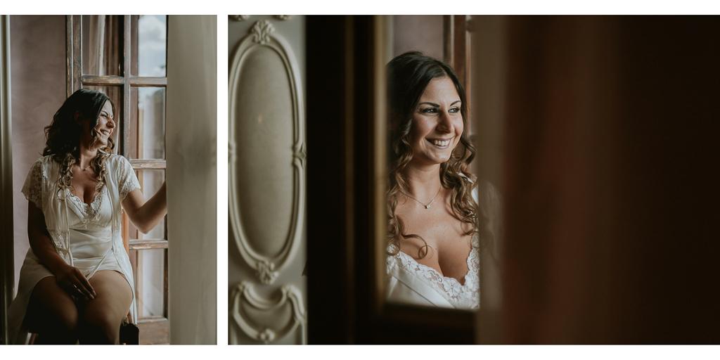 la sposa si prepara per la cerimonia
