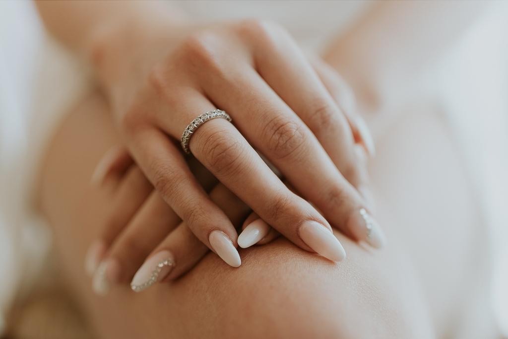 anello di fidanzamento della sposa