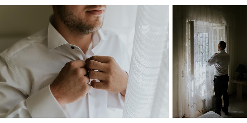 preparazione dello sposo per il matrimonio a roma