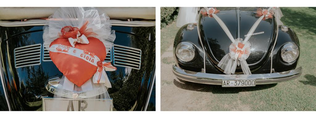 decorazioni macchina della sposa