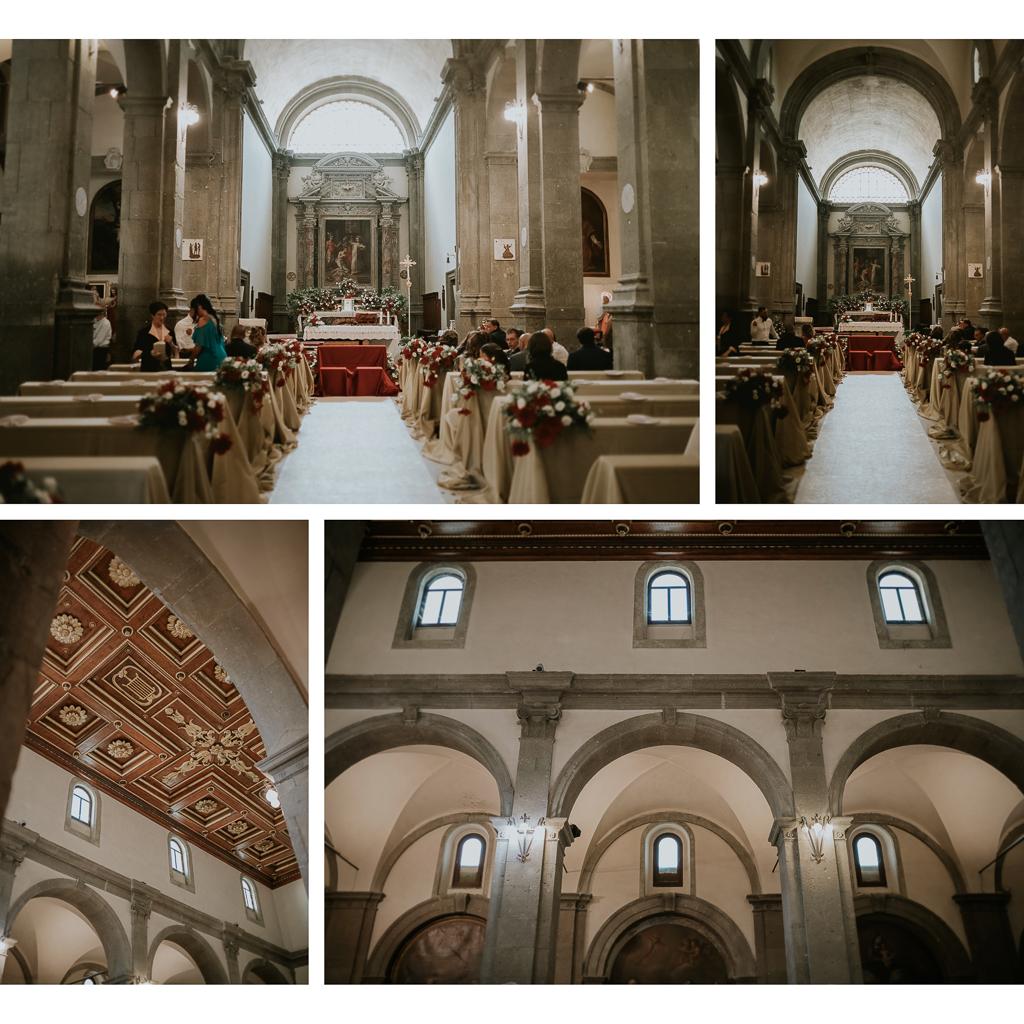 interni della chiesa San Lorenzo Martire a formello