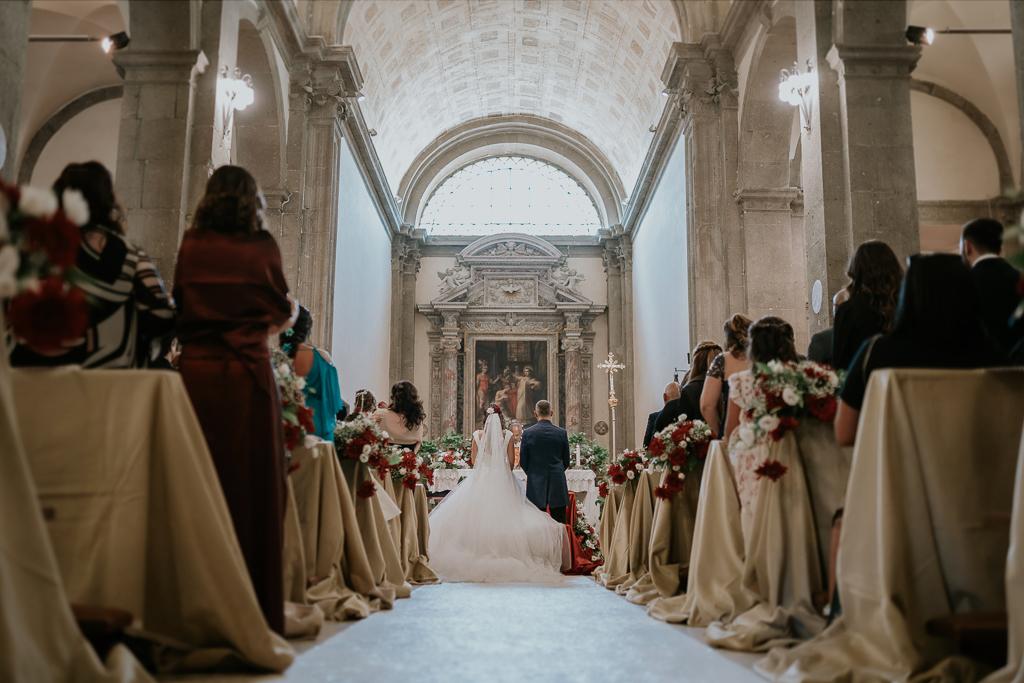 cerimonia in chiesa San Lorenzo Martire a formello