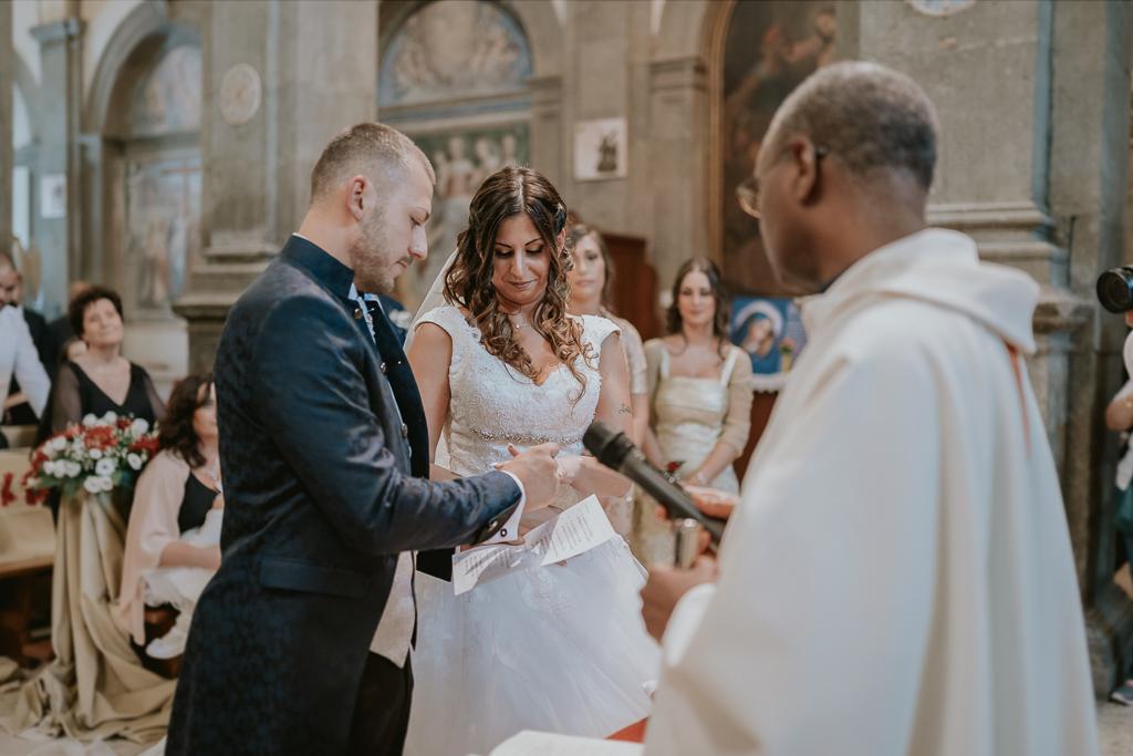 scambio degli anelli matrimonio a formello