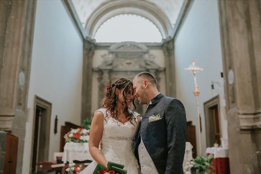 sposi in chiesa San Lorenzo Martire a formello