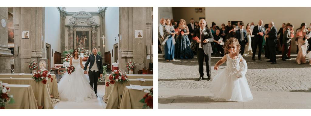 fine della cerimonia di matrimonio