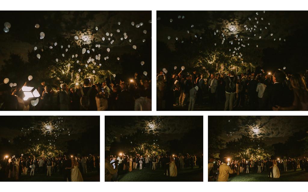 palloncini led matrimonio serale