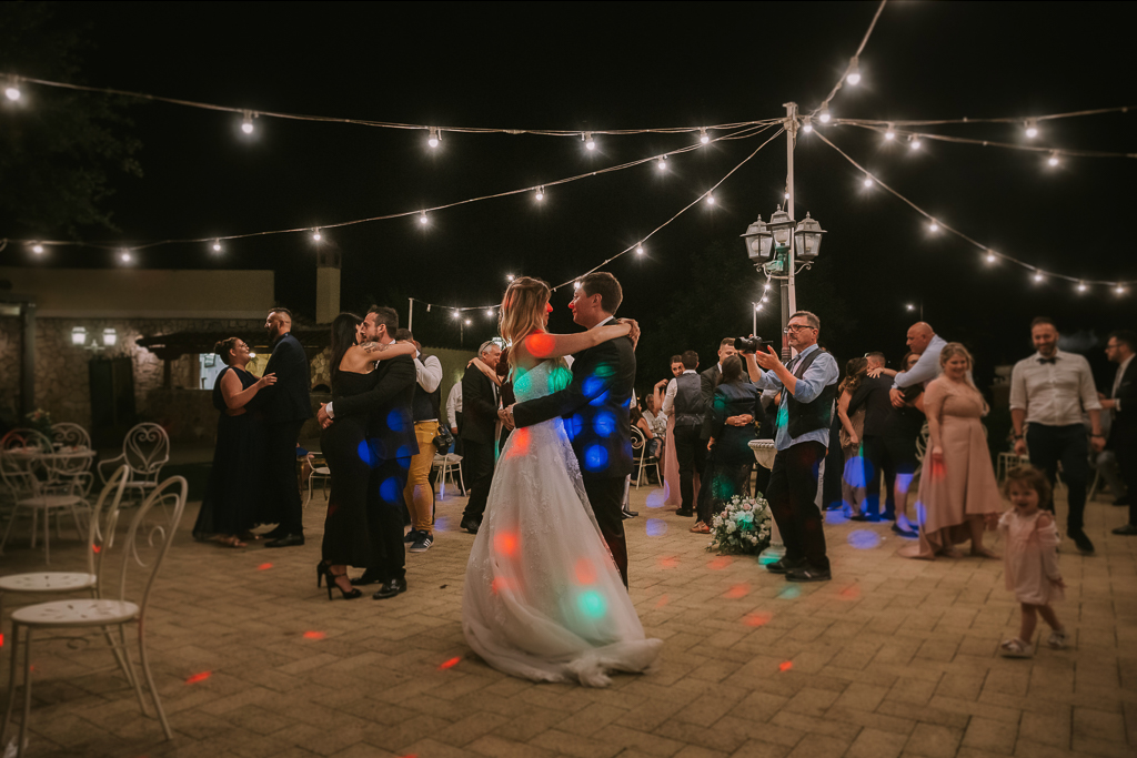 ballo degli sposi del matrimonio serale