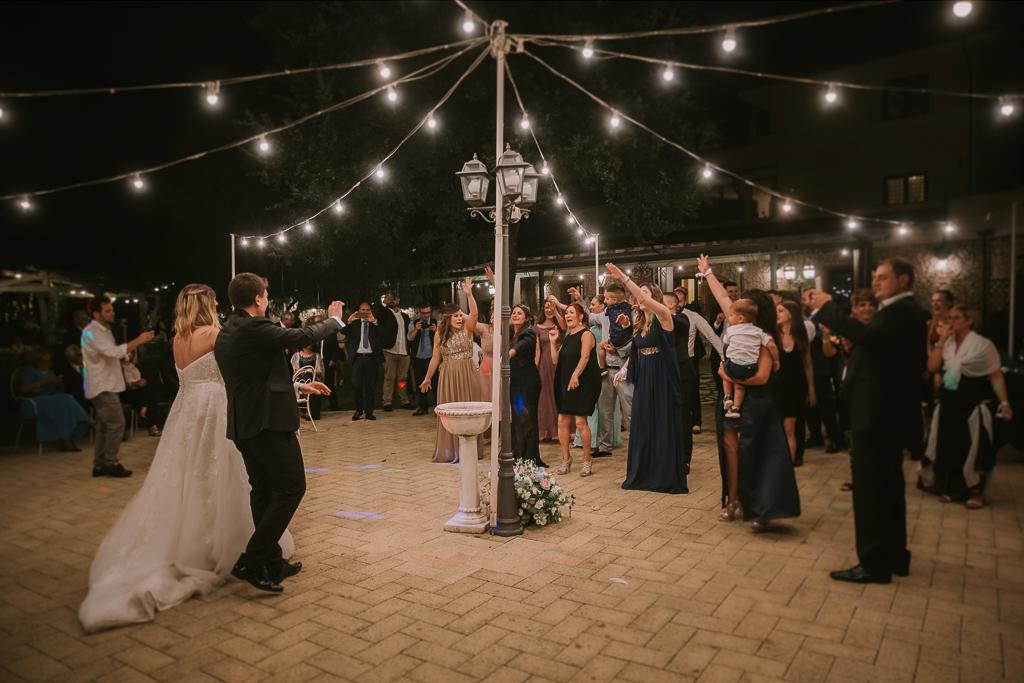 luminarie matrimonio serale tenuta agrivillage a Roma