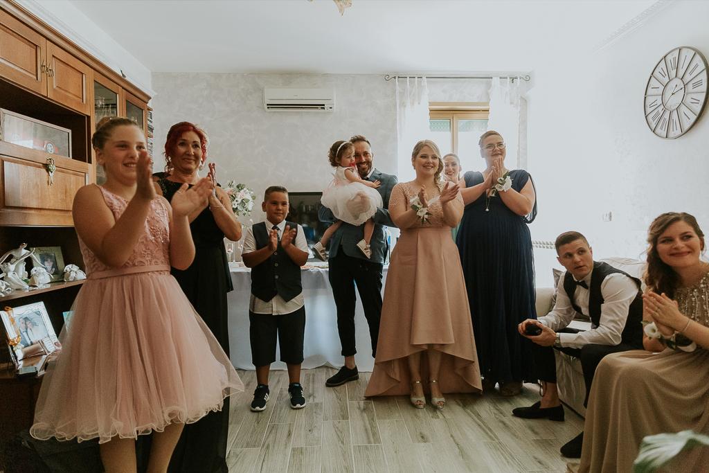 parenti a casa della sposa