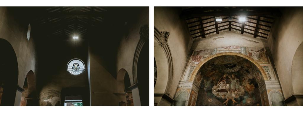 interno della chiesa San Pancrazio isola Farnese