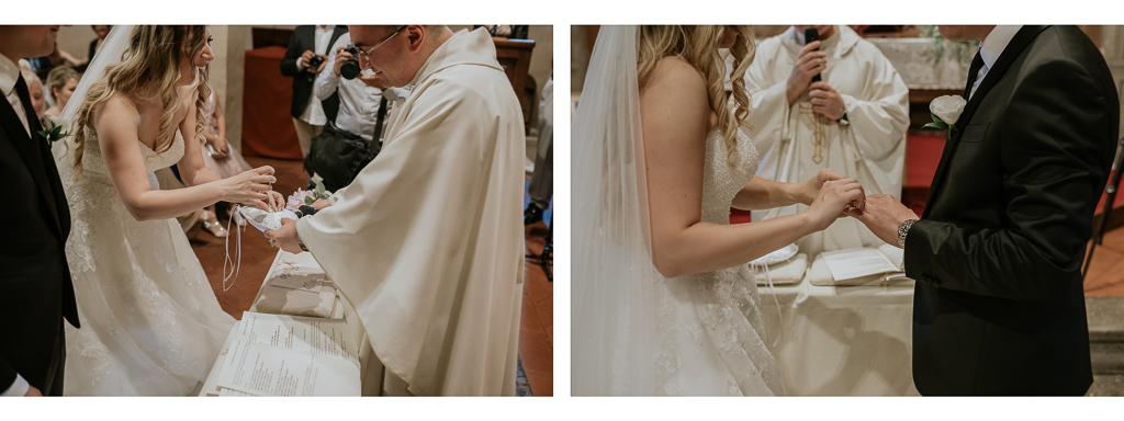 la sposa mette l'anello allo sposo
