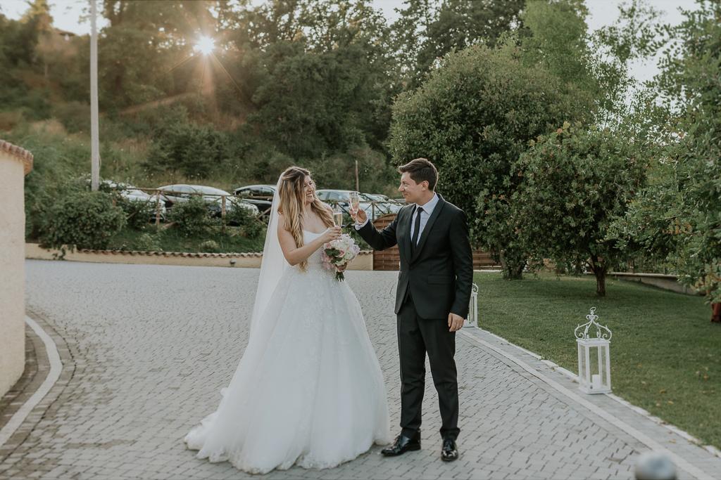 sposi in tenuta agrivillage a Roma