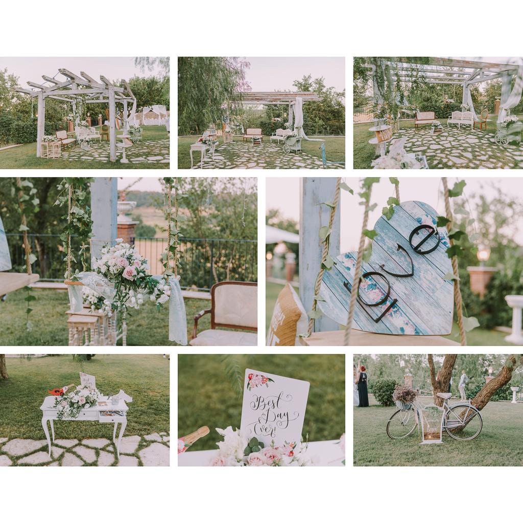 allestimenti matrimonio presso tenuta agrivillage a Roma