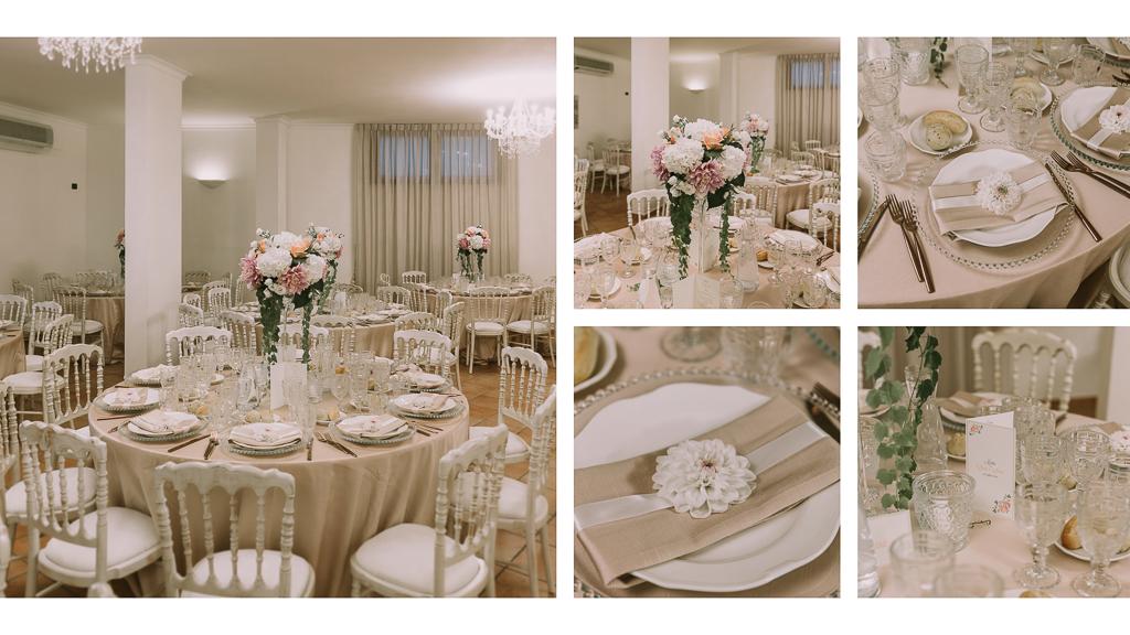 allestimento sala matrimonio presso tenuta agrivillage a Roma
