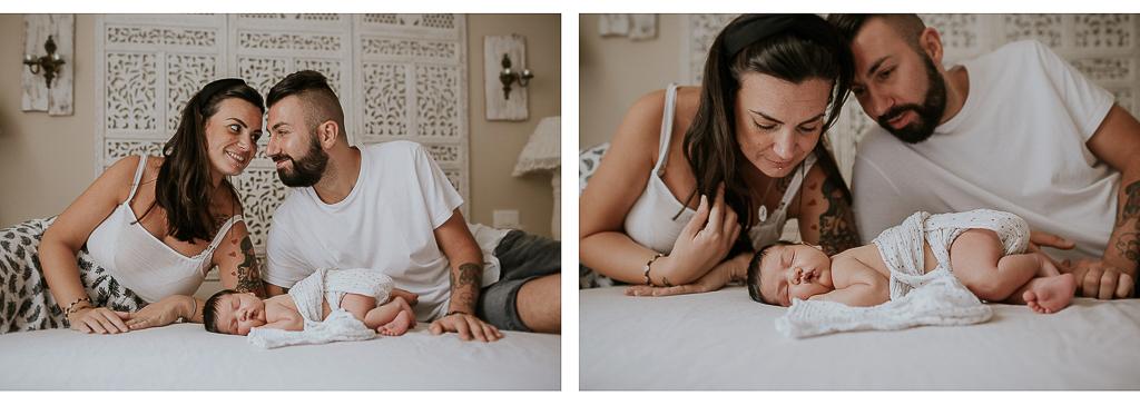 servizio fotografico newborn in famiglia
