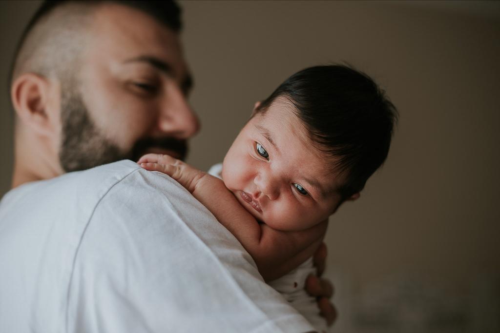 padre e figlia newborn a roma