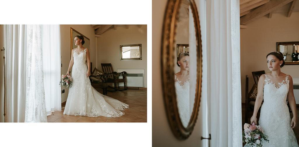 la sposa pronta per la cerimonia