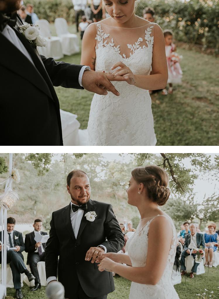 scambio degli anelli matrimonio a roma