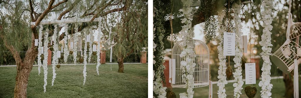 tableau de mariage del matrimonio in tenuta agrivillage a roma