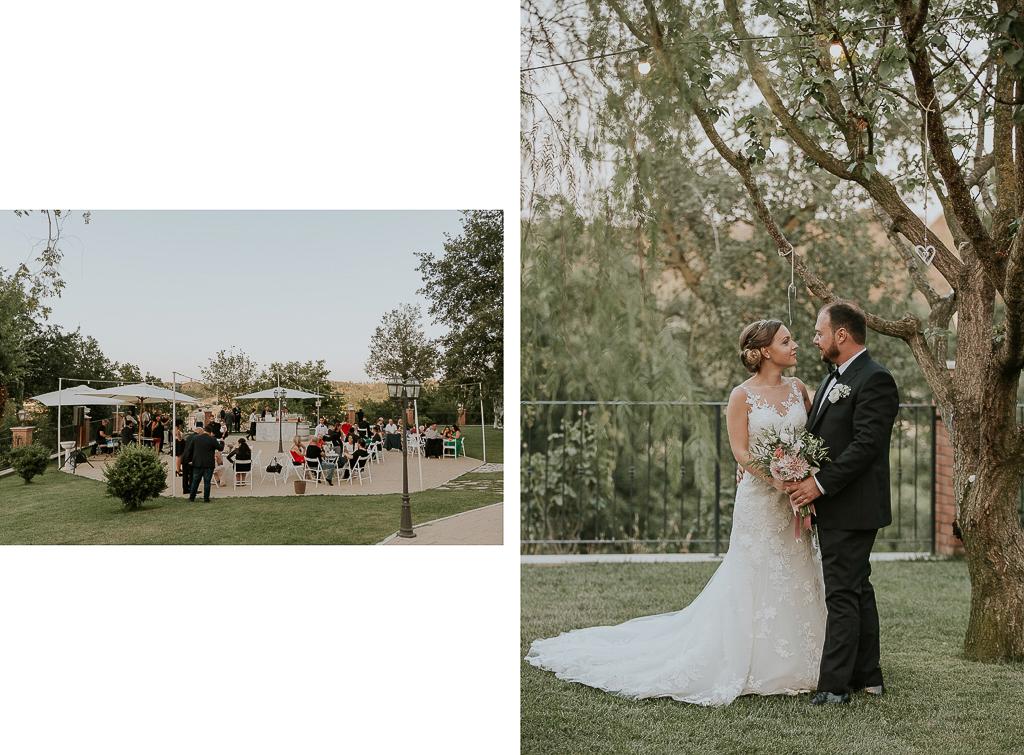 sposi nel giardino di tenuta agrivillage a roma