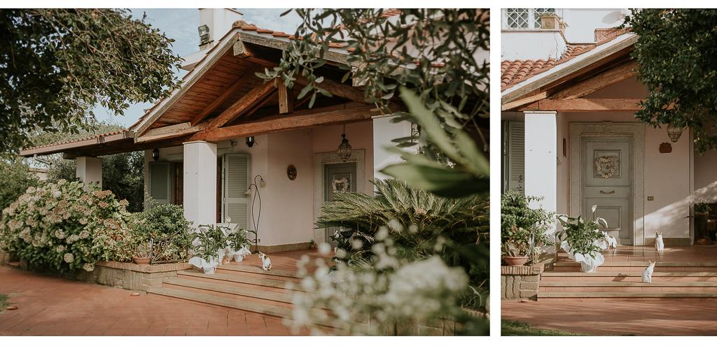 dettagli della casa della sposa