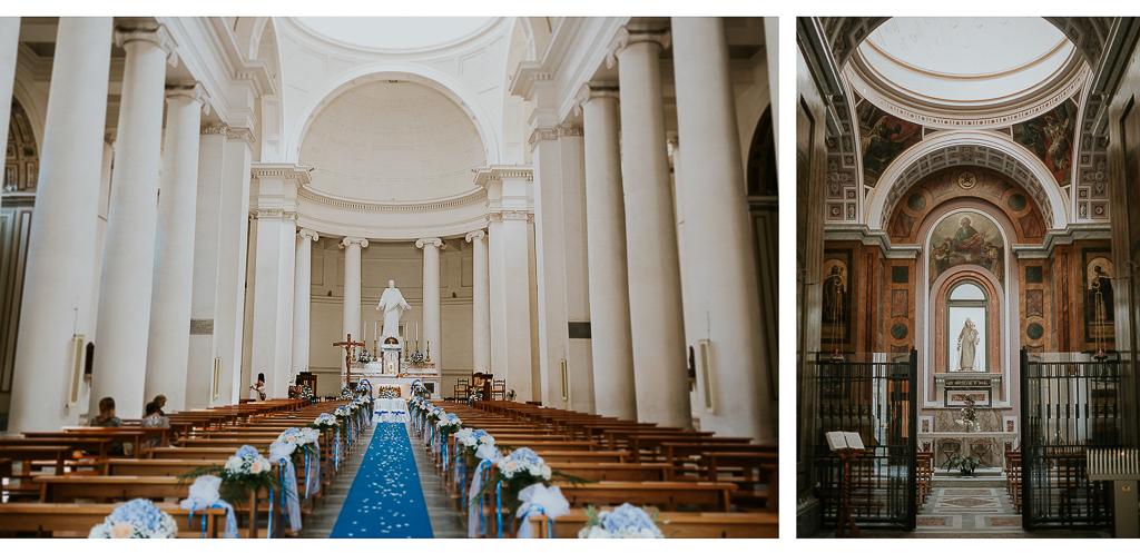 dettagli della chiesa di terracina