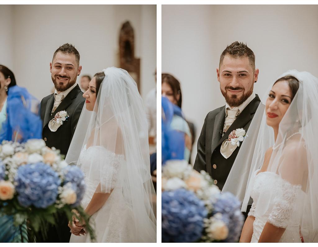 foto degli sposi durante la cerimonia