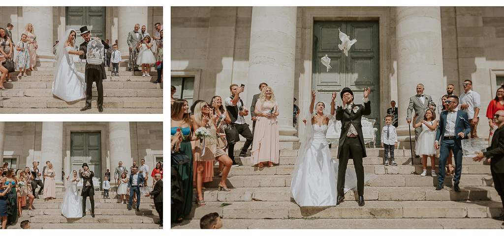 uscita sposi dalla chiesa di terracina