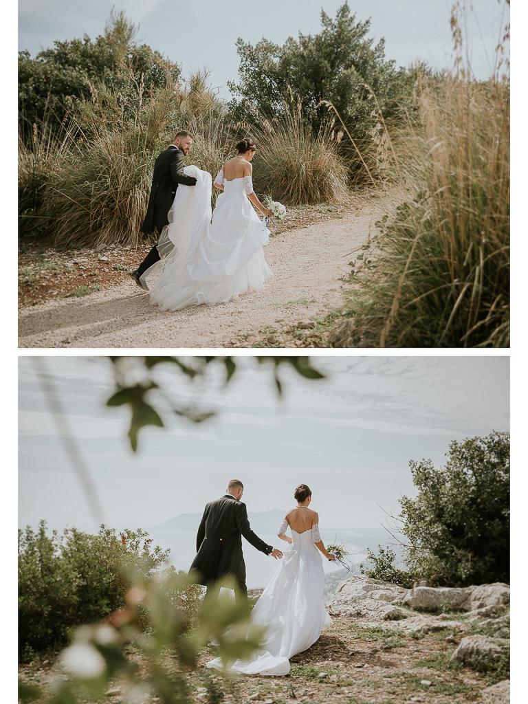 foto della passeggiata degli sposi