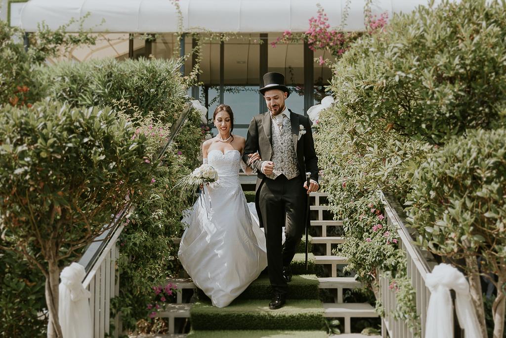 ingresso sposi presso Grappolo d'uva Terracina