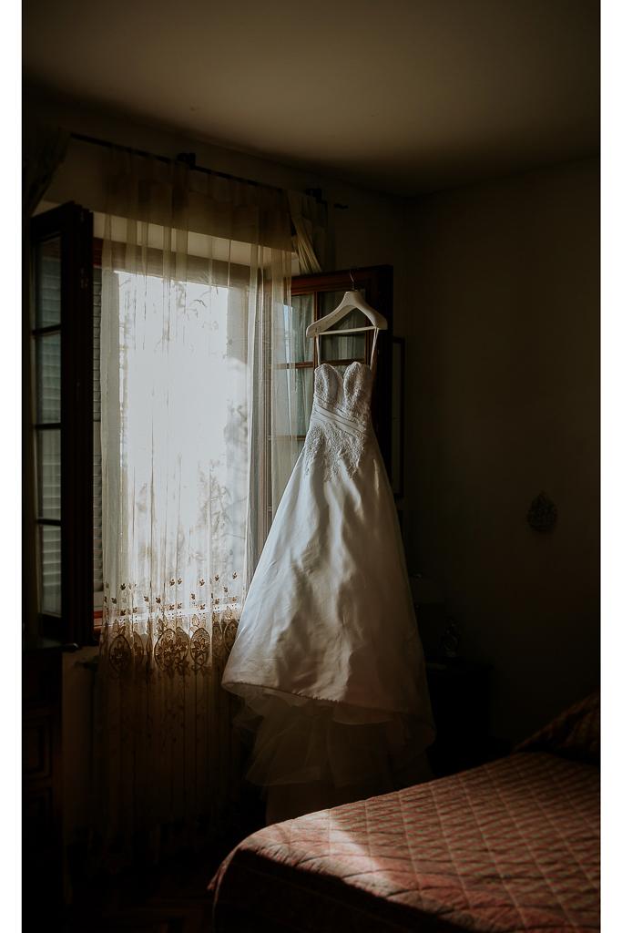 abito bianco della sposa