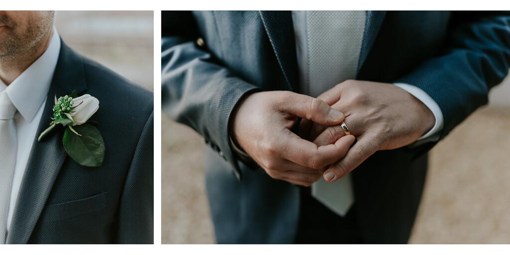 dettagli dello sposo