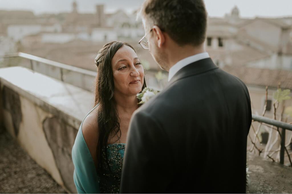 matrimonio al tramonto a roma