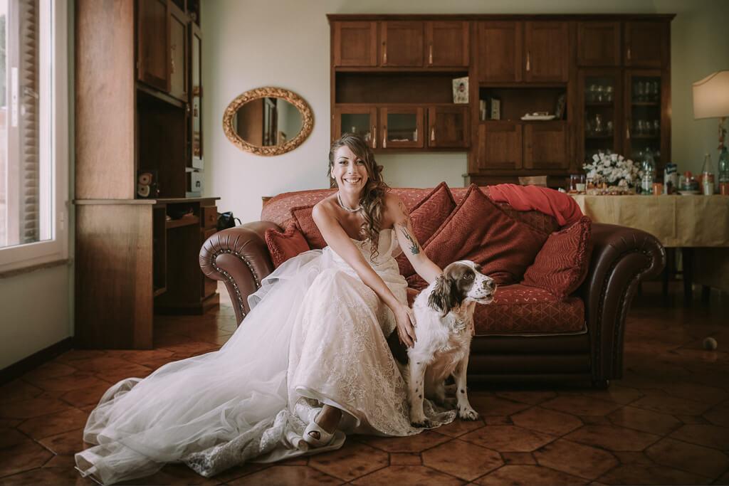 la sposa con cane