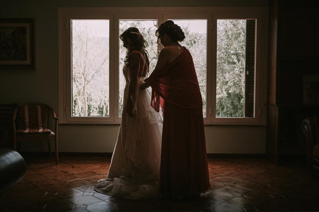 la sposa e la sua mamma