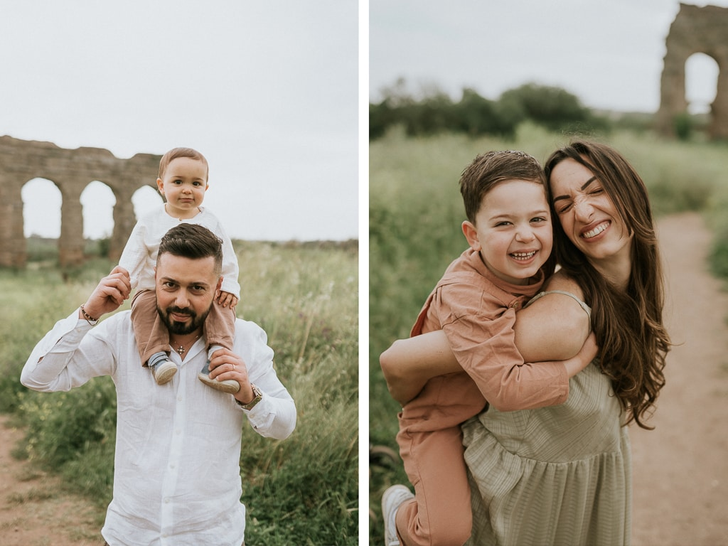 shooting fotografico famiglia