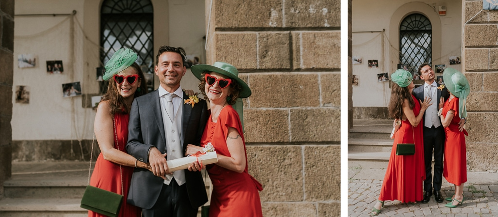 lo sposo e le damigelle