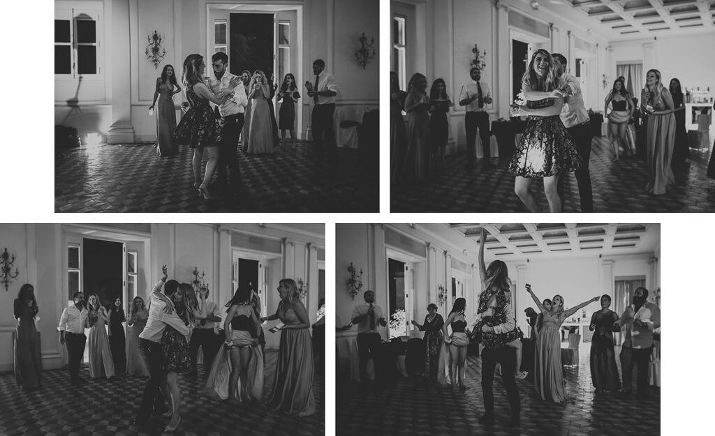 balli in sala di villa aurelia