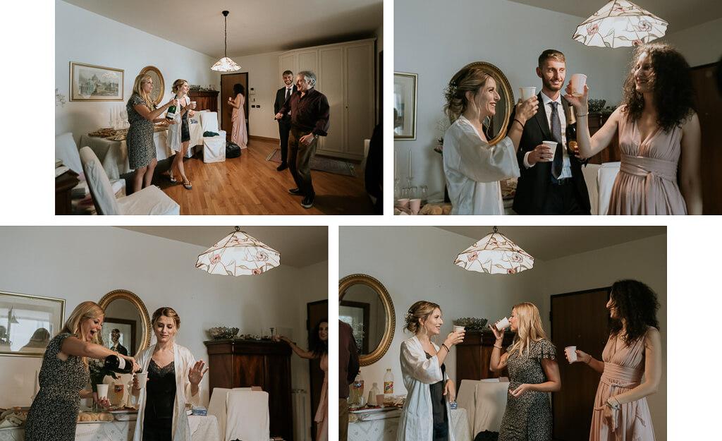 ospiti a casa della sposa