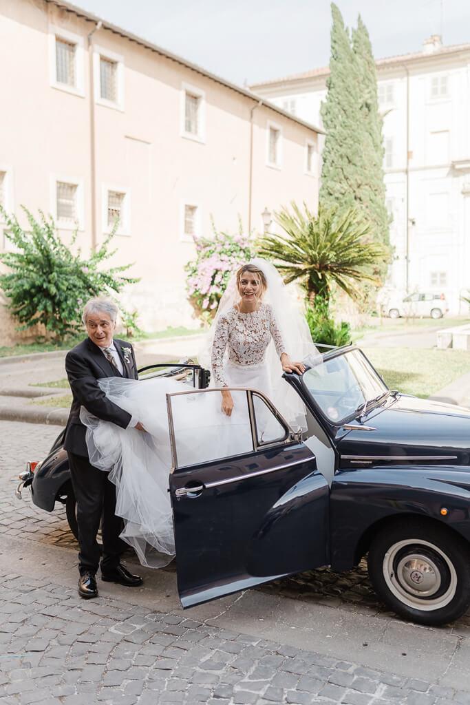 arrivo della sposa santa cecilia in trastevere